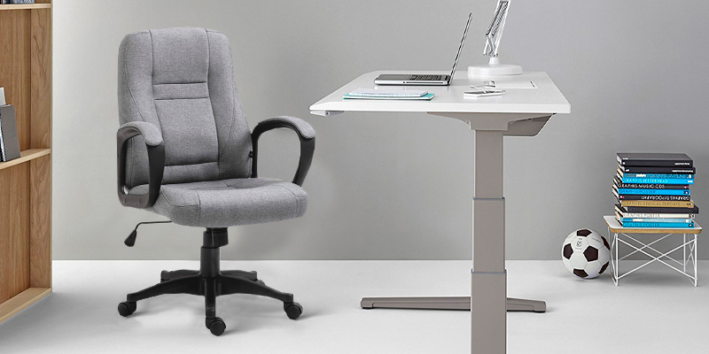 Review of Cherry Tree Furniture Swivel Grey Fabric Office Computer Chair