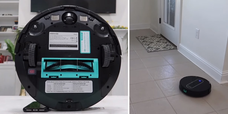 DEENKEE Robotic Vacuum Cleaner for Pet Hair in the use