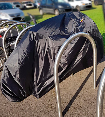 Review of BEEWAY Waterproof Anti Dust Bike Cover for 2 Bikes