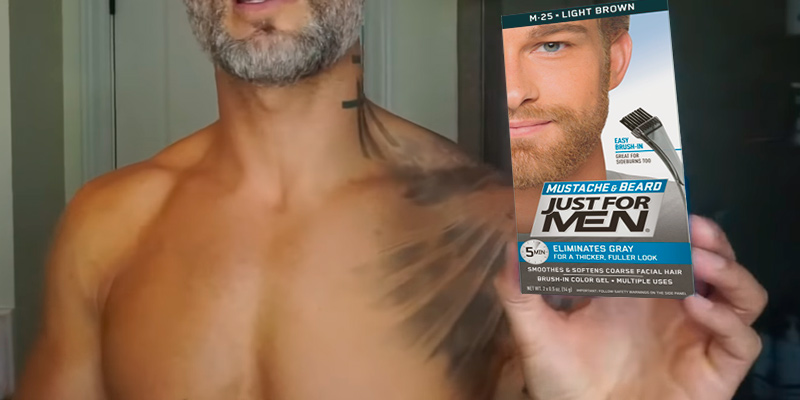Review of Just For Men M - 20 Light Brown Brush-In Mustache, Beard And Sideburns