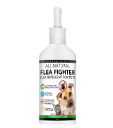 The Healthy Dog Co All Natural Flea Fighter for Cats | Powerful Repellent for Fleas Ticks & Lice