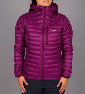 Review of Rab Microlight Alpine highly packable and warm down hooded jacket
