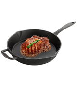 Euphoric Cookware 12 inch Versatile Heavy-Duty Large Cast Iron Round Skillet