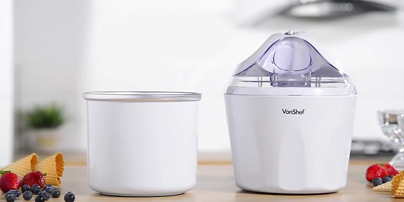 Review of VonShef Ice Cream Maker, Sorbet & Frozen Yoghurt Machine 1.5 Litre