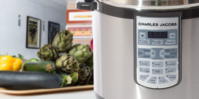 Charles Jacobs COOKER-MK216-SIL Electric Pressure Cooker in the use