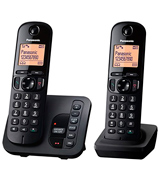 Panasonic KX-TGC222EB Digital Cordless Phone with LCD Display (Pack of 2)