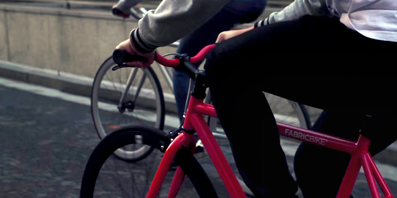 FabricBike Fixie Bike Fixed Gear Bike, Single Speed in the use