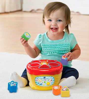 Review of VTech 185103 Baby Sort and Discover Drum - Multi-Coloured