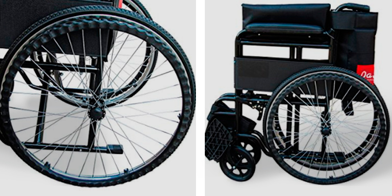 Review of Pandamoto Self-Propelled Puncture Resistant Folding Portable Wheelchair