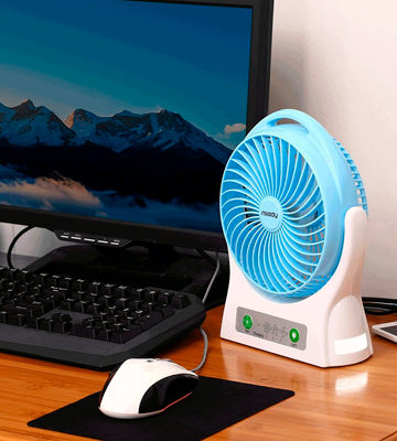 Review of Miady Personal Desk Fan USB Fan Rechargeable 7.5-inch 4000mAh Battery Powered Fan 150