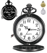 Hicarer Dad Gift from Daughter to Father Engraved Pocket Watch