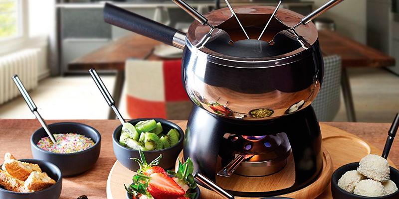 KitchenCraft Master Class Artesa Stainless Steel Fondue Set in the use