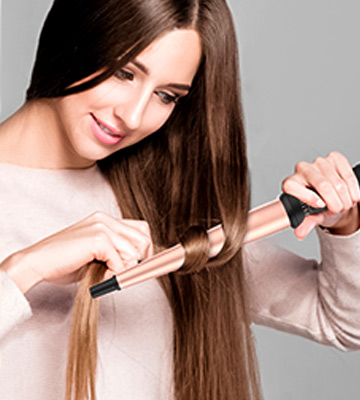Review of BESTOPE Curling Tongs 13mm 19mm 25mm Tapered Hair Curlers Tourmaline Ceramic Large Barrel Hair Curling Wand Iron
