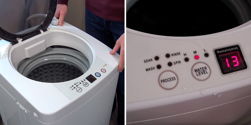 Review of Costway GB16722PE 2 in 1 Portable Washing Machine