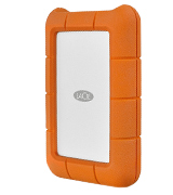 LaCie Rugged (USB-C + USB 3.0) Portable 2.5 Inch Shock, Drop and Crush Resistant External Hard Drive for PC and Mac