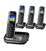 Panasonic KX-TGJ324EB Quad Handset Cordless Home Phone with Nuisance Call Blocker