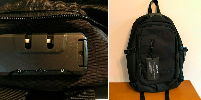Review of WENIG Anti-Theft Backpack Business Laptop Backpack