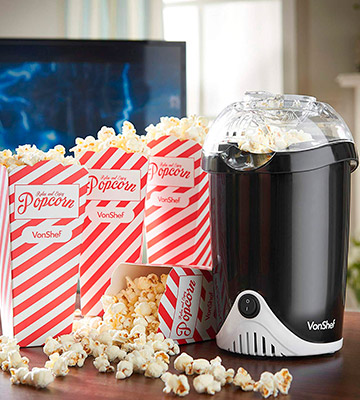 Review of VonShef 13/036 Fat-Free Hot Air Popcorn Maker
