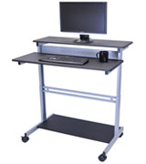 Stand Up Desk Store SUD40-BK-WPS Mobile Standing Desk