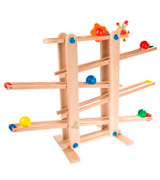 Trihorse Maxi Wooden Marble Run for Children from 1 year old