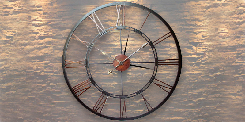 Review of DOWNTON INTERIORS COPPER WALL CLOCK LARGE VINTAGE ANTIQUE