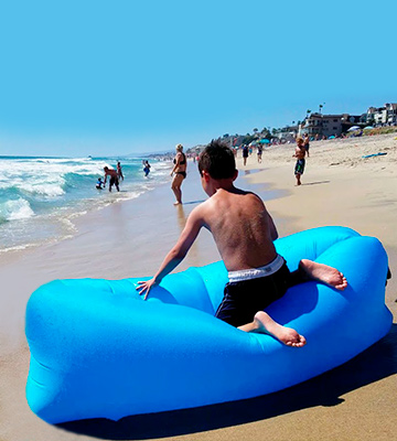 Review of JINGOU Inflatable Lounger Couch Air Lounger Lazy Sofa with Carry Bag