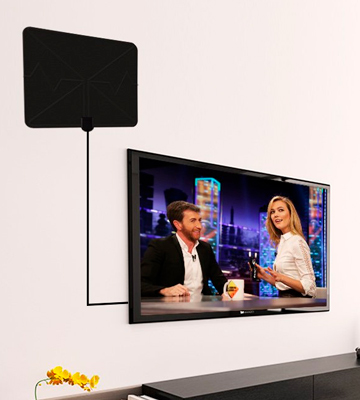 Review of Ottaim TV Aerial Indoor TV Aerial for Digital Freeview, Amplified 60+ Miles Long Range Access Freeview