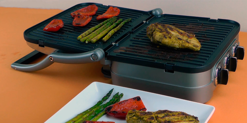 Cuisinart Griddle and Grill in the use