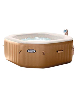 Intex Octagonal Pure Spa 4 Person Bubble Therapy Hot Tub