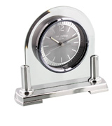 Widdop Modern Mantel Clock Two Tone Quartz Arched Design
