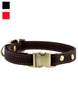 Rantow Basic Leather Collar for Puppy Small Dogs