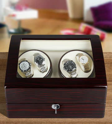 Review of Excelvan Luxury Watch Rotator 4+6 Storage Box Case Automatic Rotation
