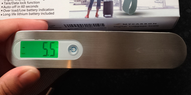 Review of MYCARBON DS2 50kg Portable Digital Luggage Scale with Backlit and Tare Function
