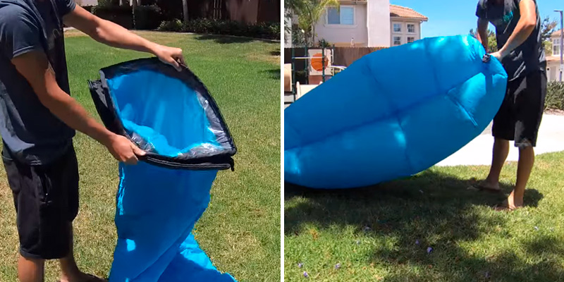 Review of SLB Inflatable Lounger Waterproof Air lounger with Headrest