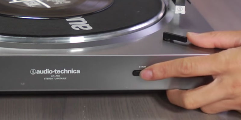 Audio-Technica AT-LP60BK Stereo Turntable in the use