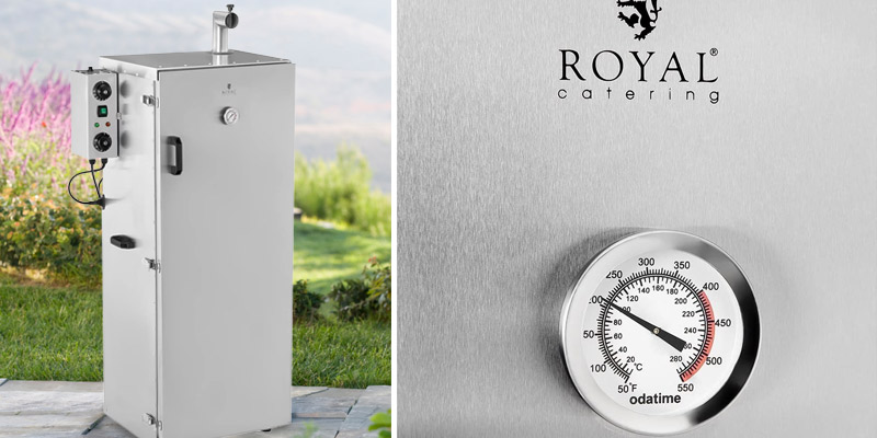 Royal Catering RCRO-1300 Food Smoker in the use