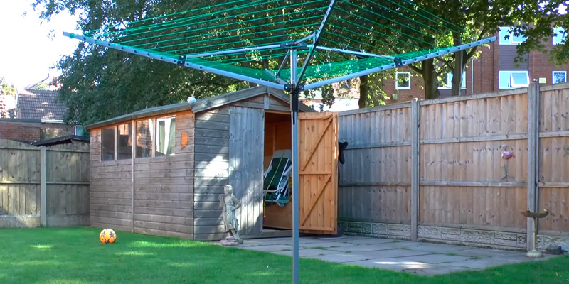 Review of Homegear Washing Line Outdoor 4 Arm 50m Rotary Clothes Airer Dryer