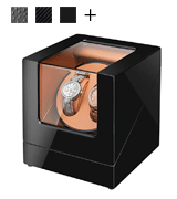 Sepano (S5S120) Automatic Double Watch Winder with Mabuchi Motor and Dual Power