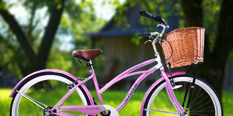 Review of AMMACO PINK / WHITE Cruiser Bike