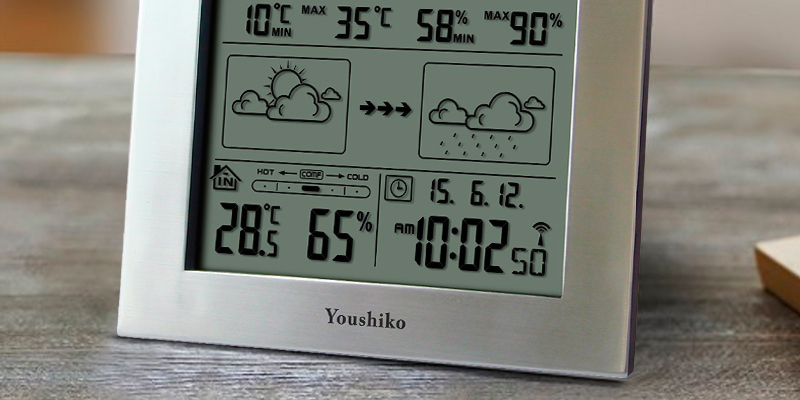 Detailed review of Youshiko YC9330 with Radio Controlled Clock