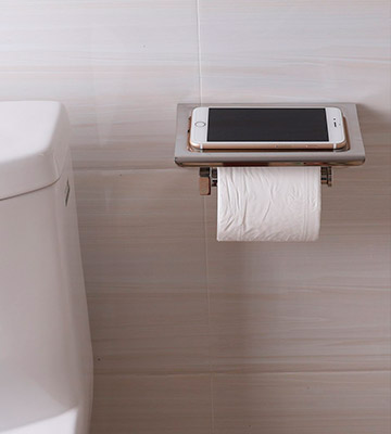 Review of Worldwell Toilet Roll Storage with Moblie Phone Holder Stand