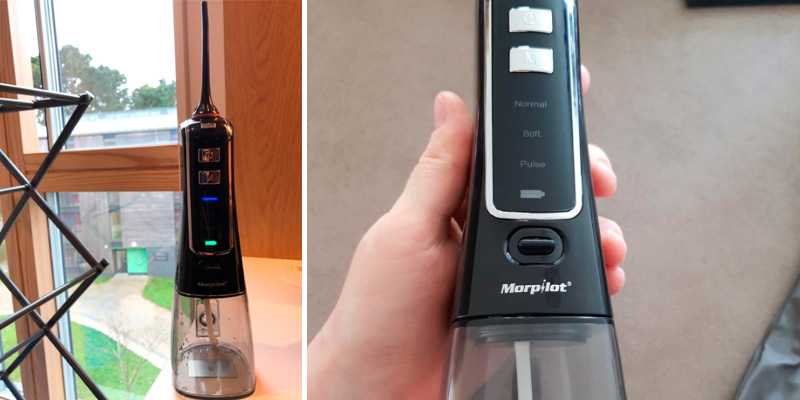 Morpilot Professional Cordless Rechargeable Water Flosser for Teeth in the use