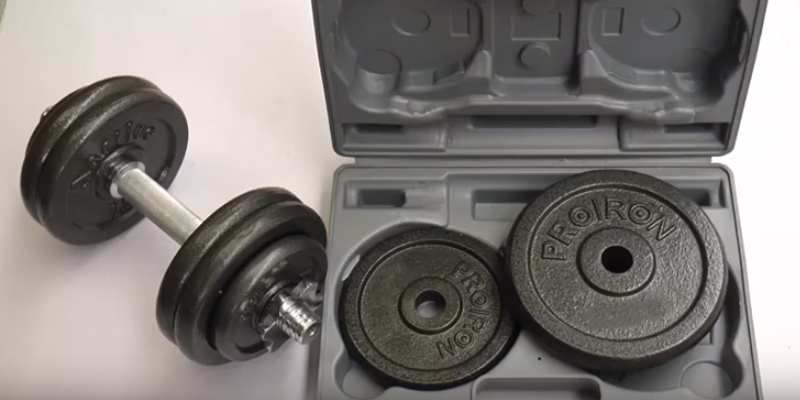 Detailed review of ProIron PRKCAS20K Cast Iron Adjustable Dumbbell Set