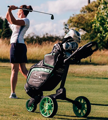 Review of Stewart Golf R1S-BLK-BLU R1-s Push Trolley
