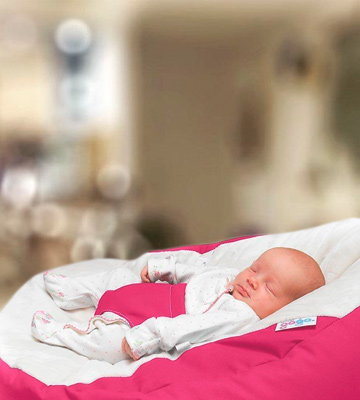 Review of RUComfy RUCGAGACERISE Luxury Cuddle Soft Gaga Baby Bean Bag (Cerise Pink)