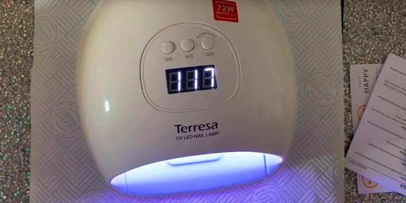 Terresa UV LED 72 Watt Fast Nail Dryer in the use