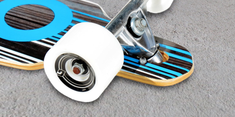 Atom Drop Longboard in the use
