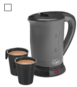 Quest 35690 Compact Travel Electric Kettle Dual Voltage