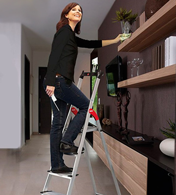 Review of Hailo 8040-707 Safety Ladder, 7 steps, Multifunction Tray