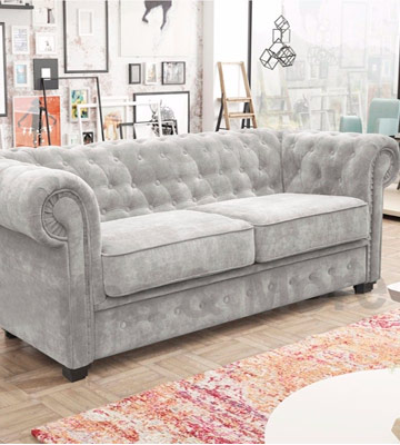 Review of Sofas and More Venus Chesterfield Style Sofa Bed